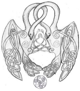 Celtic Swans By Lariethene On Deviantart Swan Tattoo Black Swan Tattoo Celtic