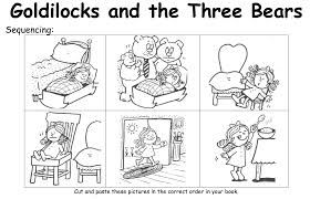 Image result for goldilocks sequencing worksheet WITH