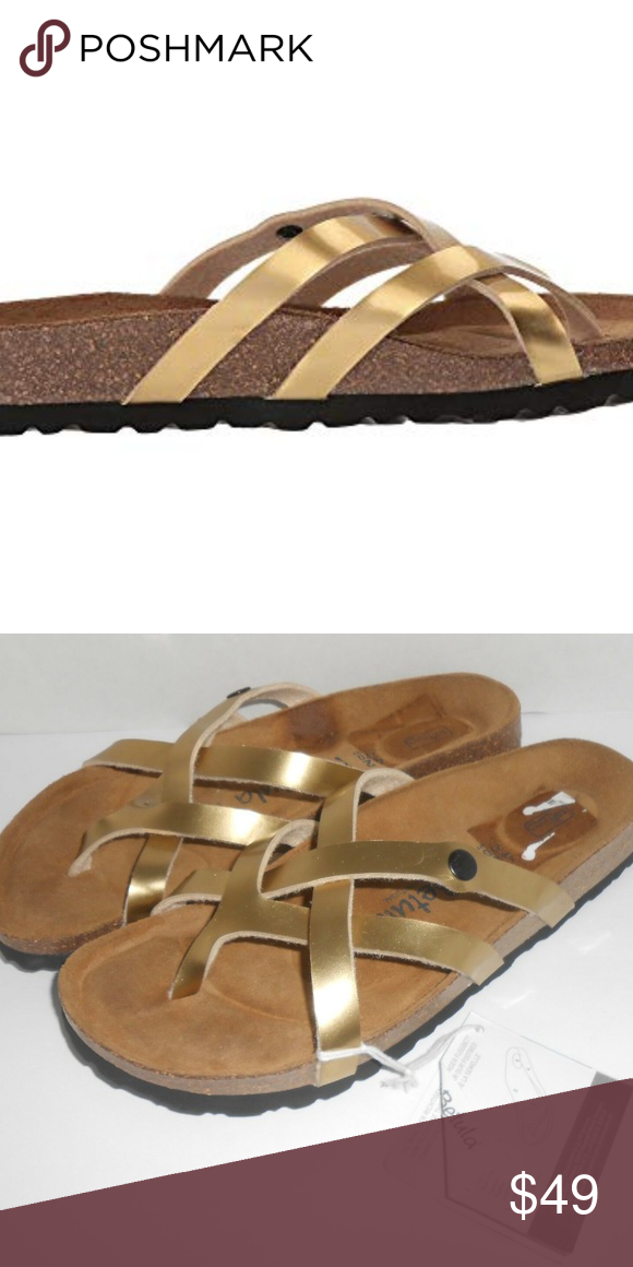 18a9d8d21e0c Slip On · Sandals · BETULA By Birkenstock Vinja METAL GOLD SIZES CAN RUN  HALF SIZE BIGGER EXAMPLE. 5-