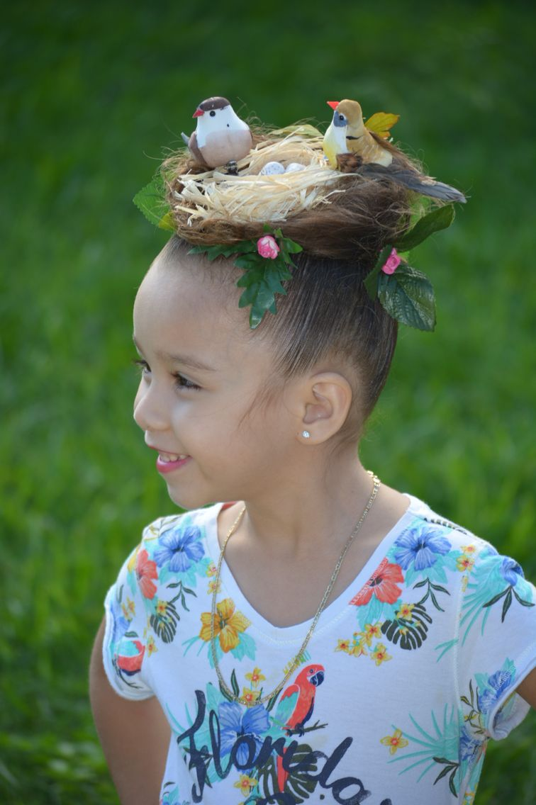 bird's nest for a crazy hair day at school. | diy crafts