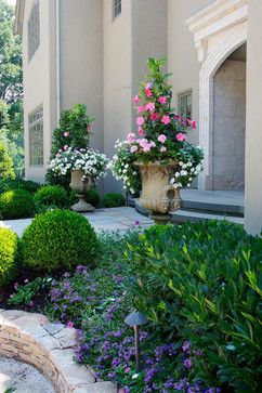 French Country Estate Traditional Landscape