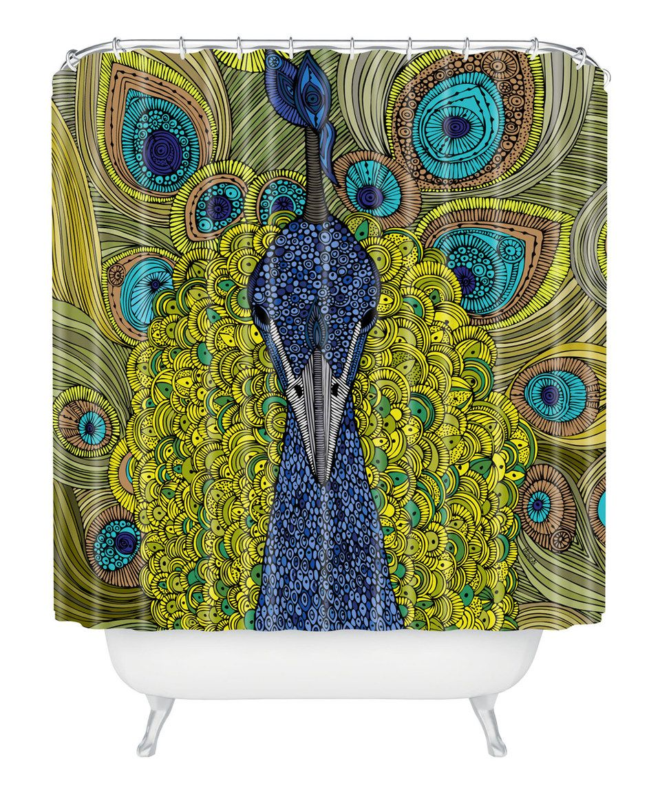 Another great find on #zulily! Peacock Shower Curtain by DENY Designs #zulilyfinds