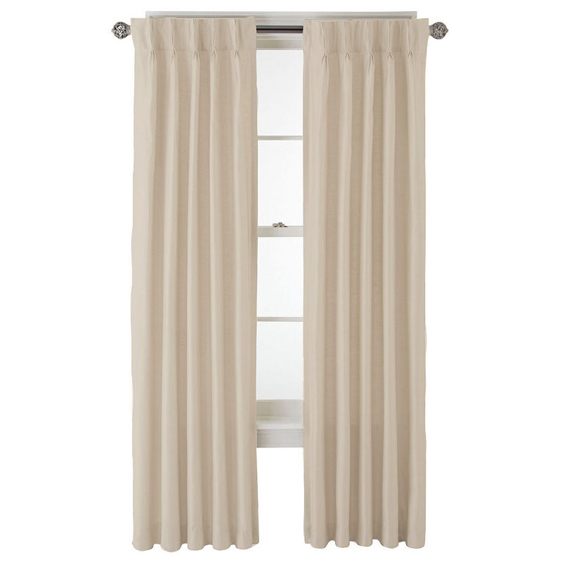 Jcpenney Home Supreme Thermal Pinch Pleat Curtain Panel Pleated