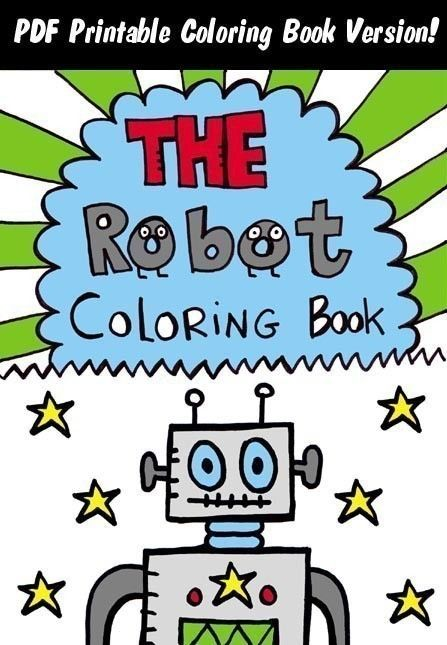 PDF The Robot Coloring Book By Jelene On Etsy 300 Via