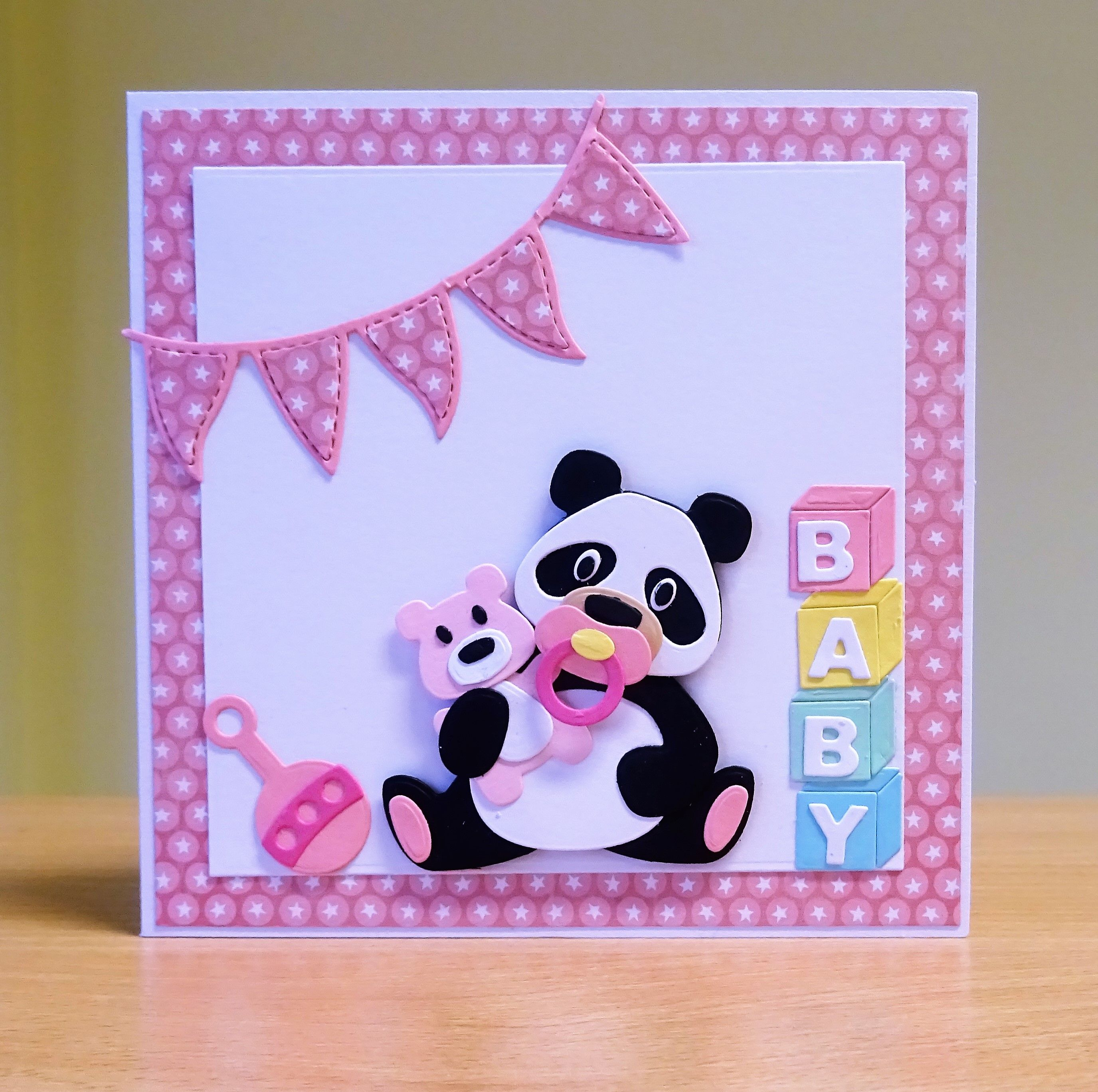 New baby girl card marianne collectables panda die baby new baby girl card marianne collectables panda die baby accessories die to purchase kristyandbryce Gallery