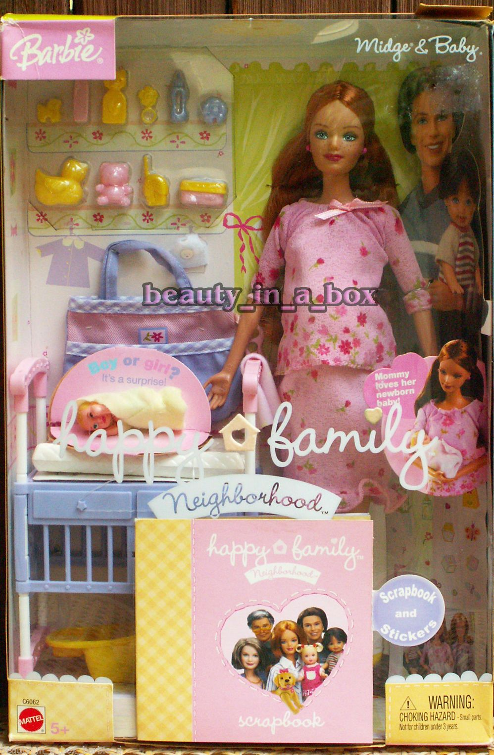 Barbie Pak Pink Dress W Red Flowers /& Shoes Perfect 4 Pregnant Midge