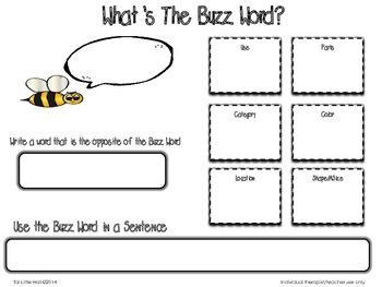 What's The Buzzword? Free Graphic Organizer for Vocabulary