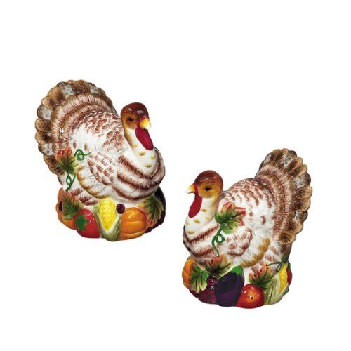 Thanksgiving Turkey SP Salt  Pepper Shakers Set >>> More info could be found at the image url.