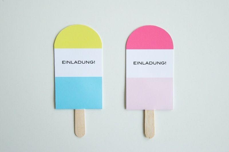 Einladungskarte Eis Am Stiel // Ice Cream Invite By Westendgirl Via  DaWanda.com