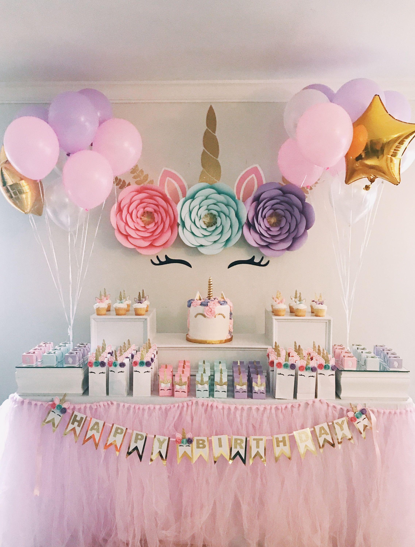 Unicorn Baby Shower Digital Unicorn Birthday Party Backdrop Unicorn Backdrop First Birthday Rainbow Birthday Unicorn Party Decoration
