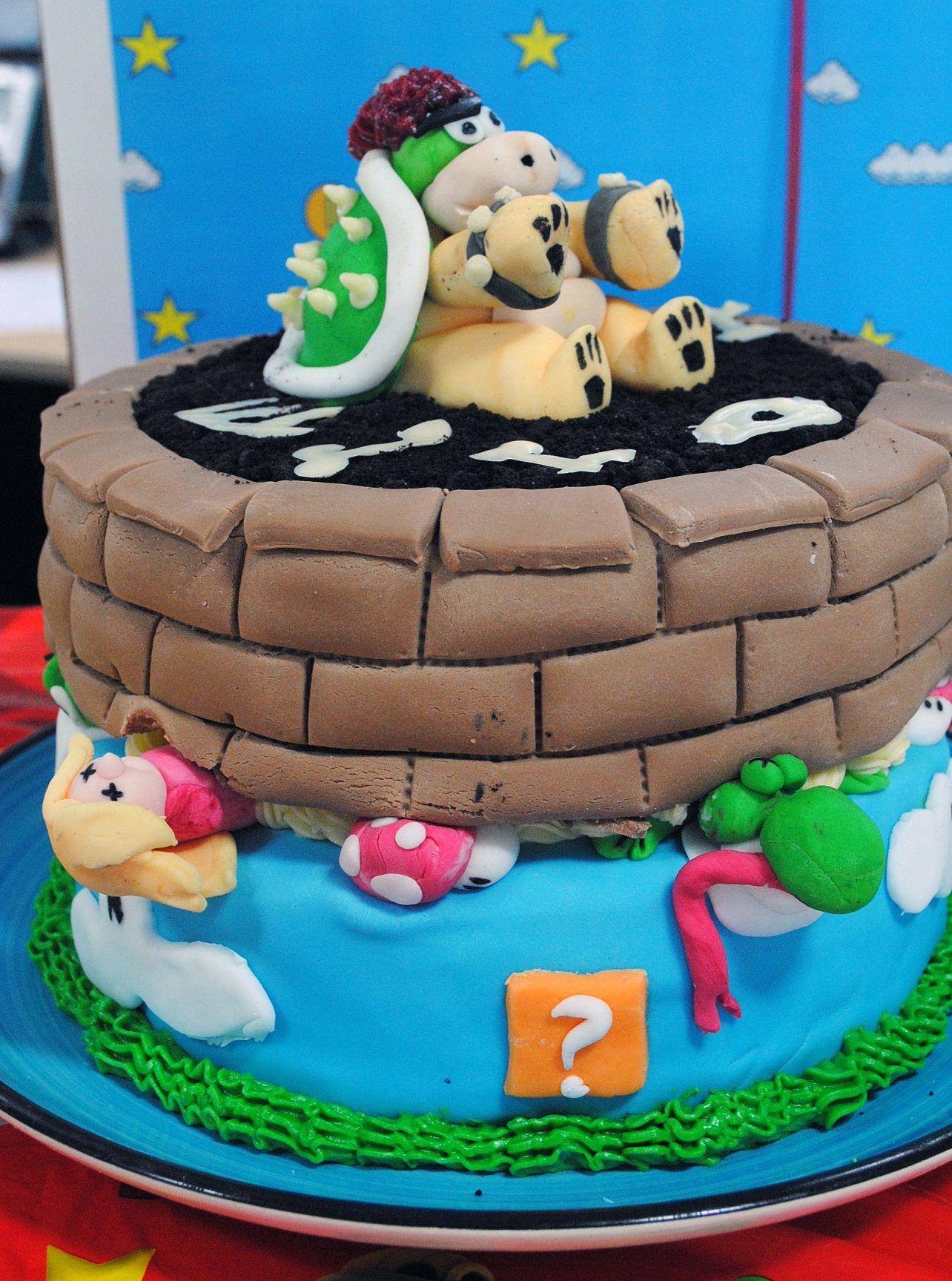 Mario bakeoff at game head office cake nintendo cake