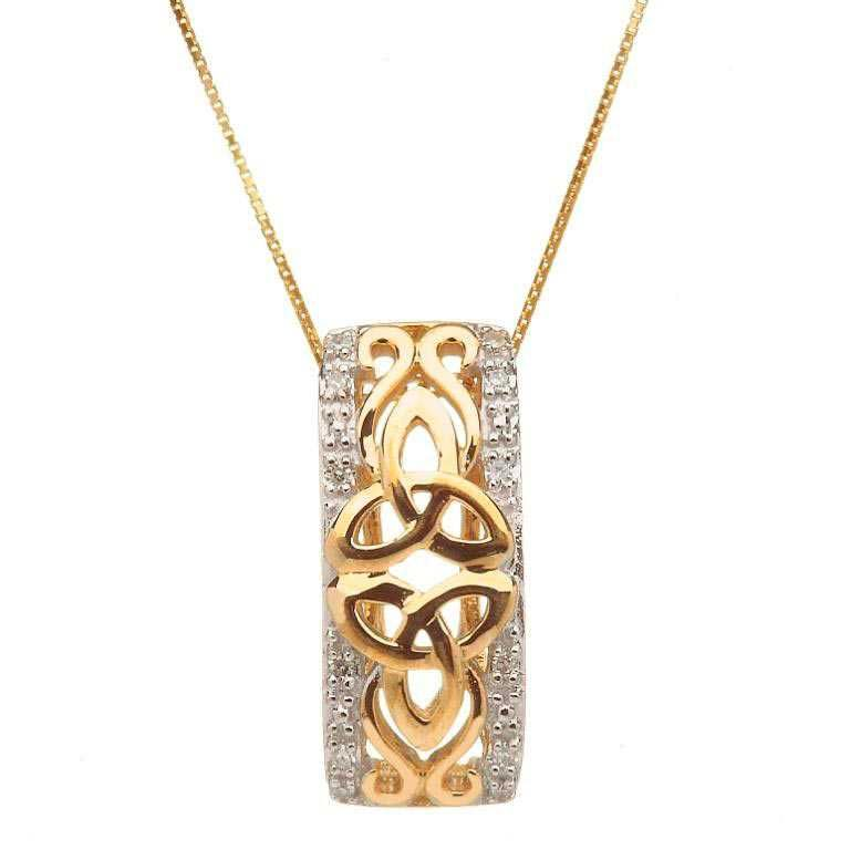 10 Karat Gold Diamond Trinity Knot Pendant By Shanore Celtic Jewelry Celtic Pendant Dream Jewelry