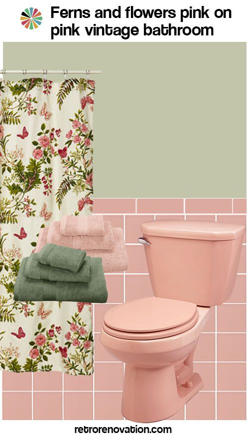 How About A Floral Fun Shower Curtain Instead And Solid Colored Complimentary Paint Or Wallpaper