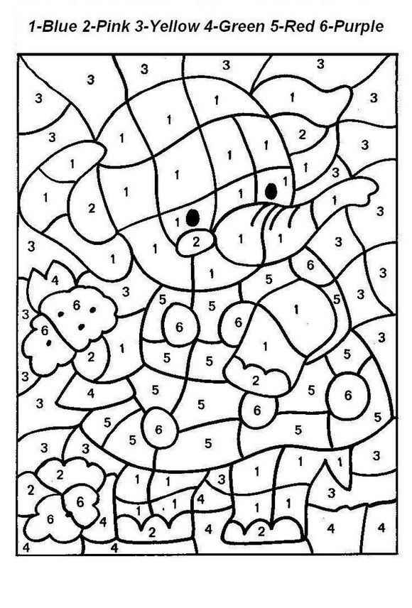 coloring page color by number printable Coloring Board Pinterest - copy color by number advanced coloring pages