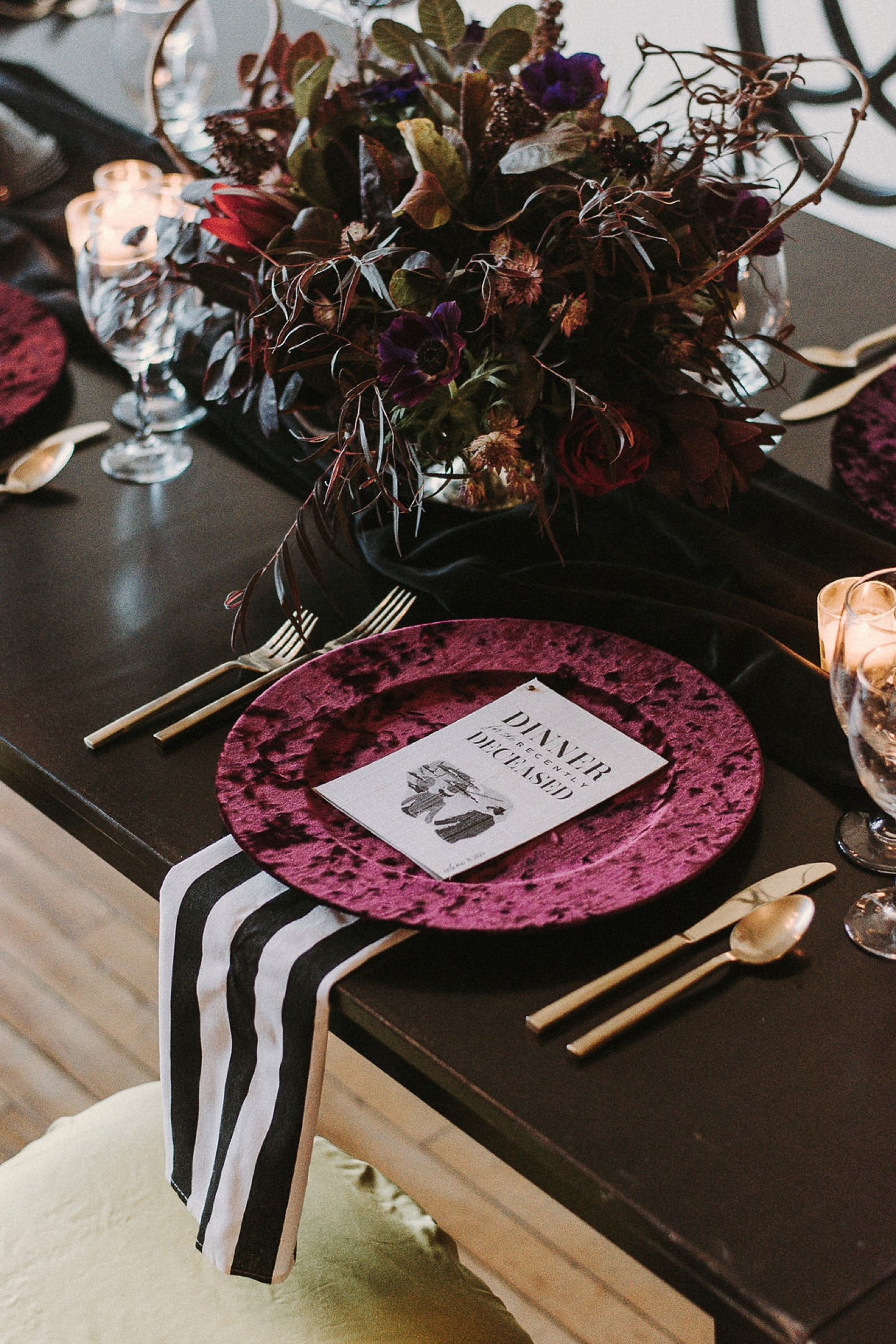 A Moody, Modern & Chic Beetlejuice Halloween Party - Saffron Avenue