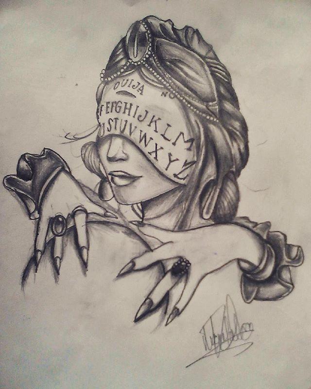 @valeratattooart: Diseño tradicional personalizado... manda tu idea por facebook. #tattoo #pain #ink #inkvenezuela #inked #ouijatattoo  #ouija  #venezuelatattoo #dibujo #womantattoo #inkgirl #hands #designer  #working #instagram #witch  #witchtattoo