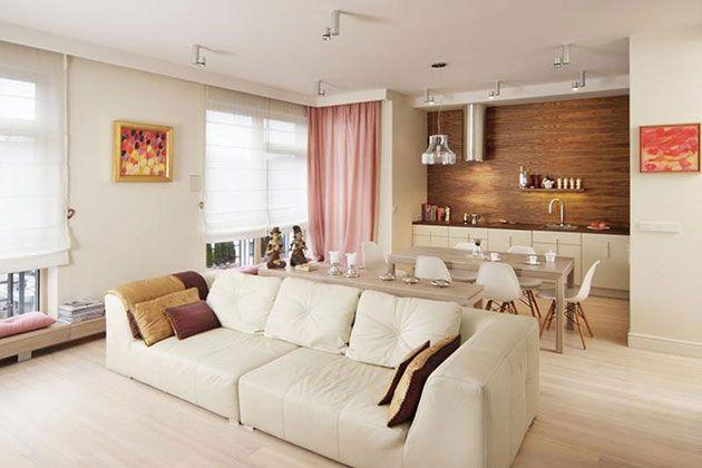 20 Fotos E Ideas Para Integrar Una Cocina Pequena Abierta Al Salon Ideas De Sala Gris Cocina Integrada En Salon Interiores De Casa
