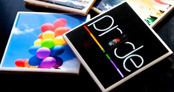 Gay Pride Handmade Coasters with my Photos on Etsy, $8.00