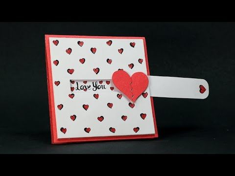 Diy Paper Crafts Sliding Heart Greeting Card Ideas How To