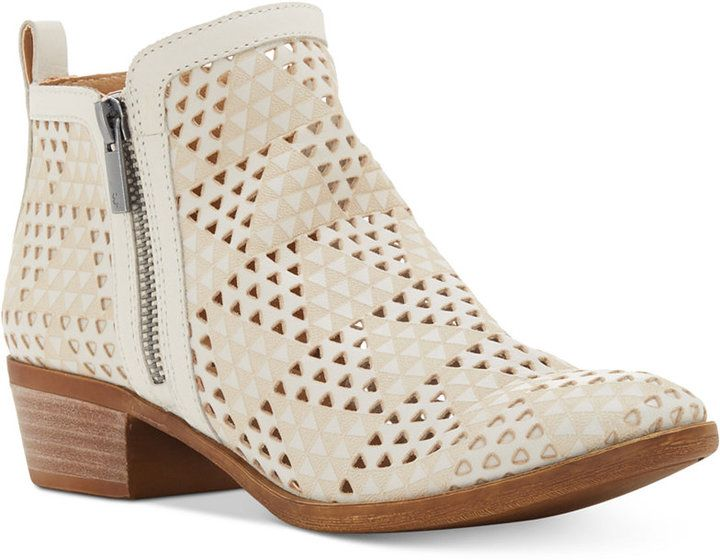 cea7e8bd217d Lucky Brand Women s Perforated Basel Booties Women s Shoes ...