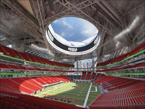 New Renderings Give Us A Closer Look The Atlanta Falcons New Football Stadium Estadios Del Mundo Estadios Estadio De Futbol
