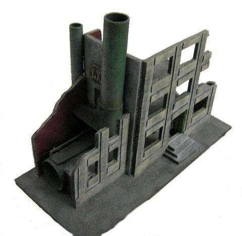 Edificio en Ruinas para Warhammer de 25 y 28 mm.