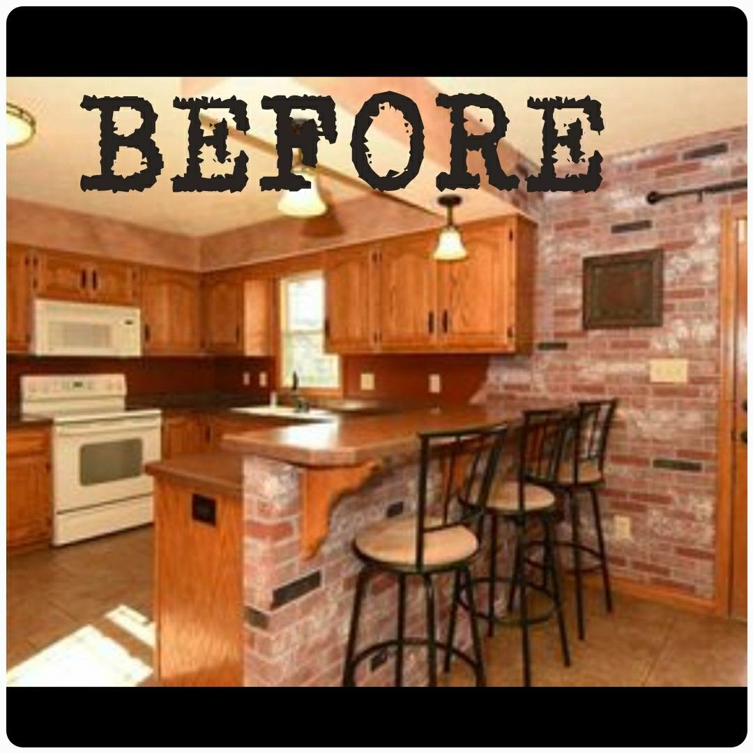 Before After Kitchen Remodel Gray Cabinets Diy Subway