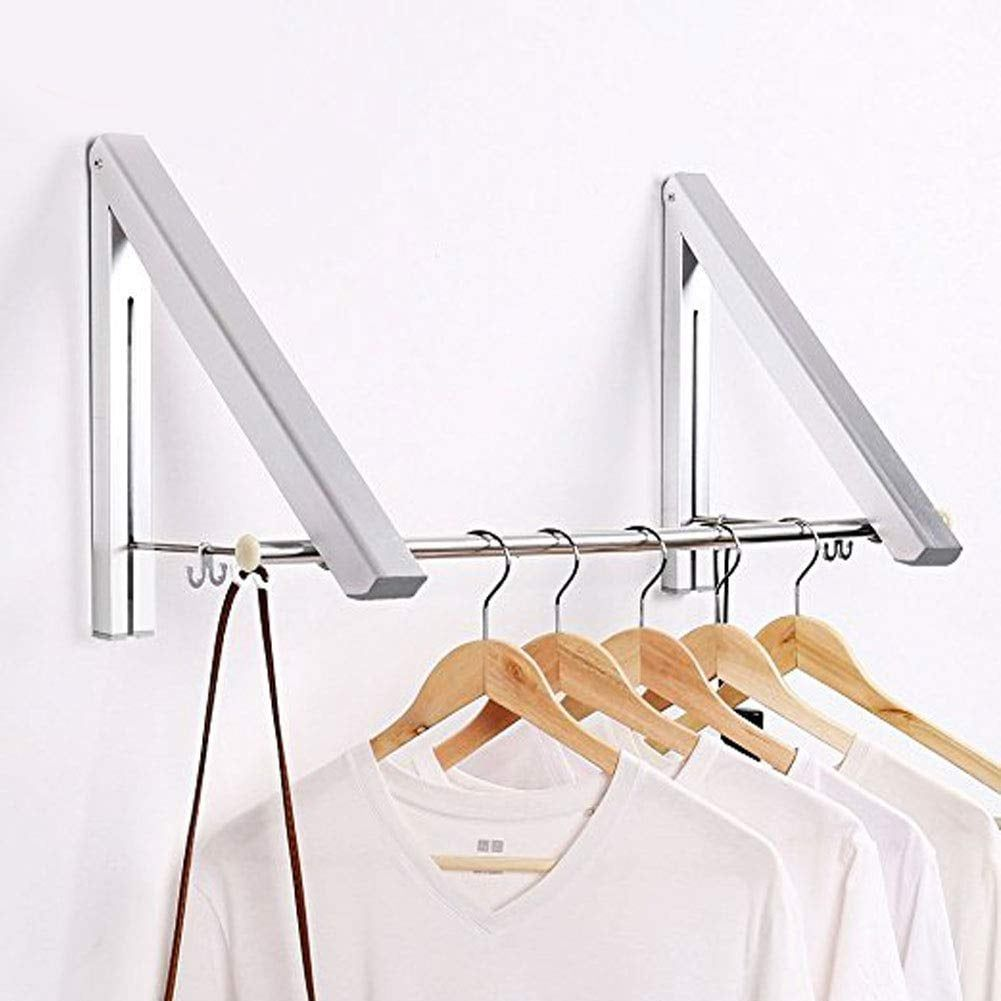 Sr Home Wall Mounted Hanger Drying Rack Laundry Folding Clothes