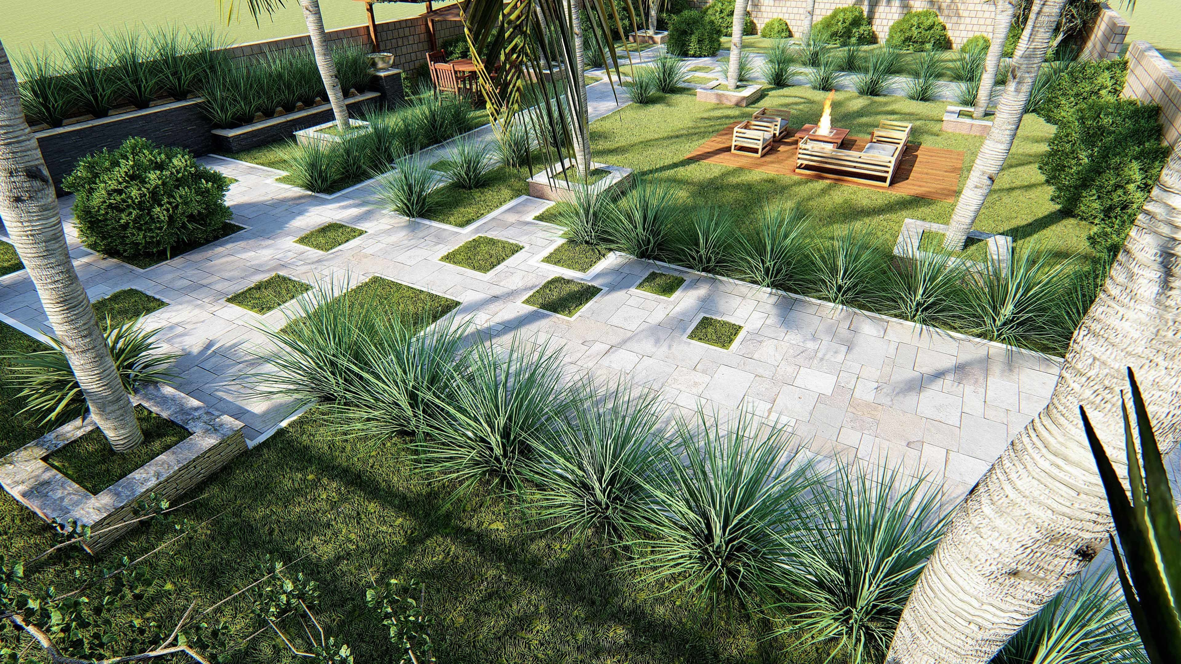 Landscape Design 3d Model And Render In Lumion 3d Model Landscape Architecture Design Landscape Design Landscape Projects