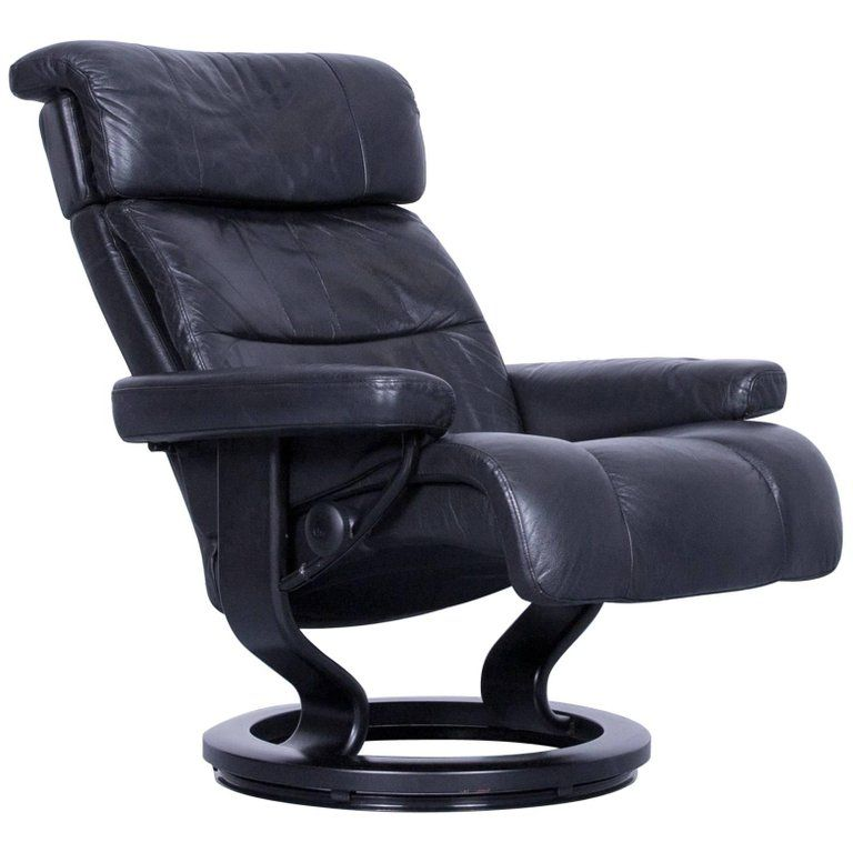 Stressless Relax Armchair Black Leather Relax Recliner TV Chair Wood | From  A Unique Collection Of