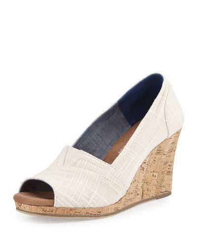 toms open toe wedge heels