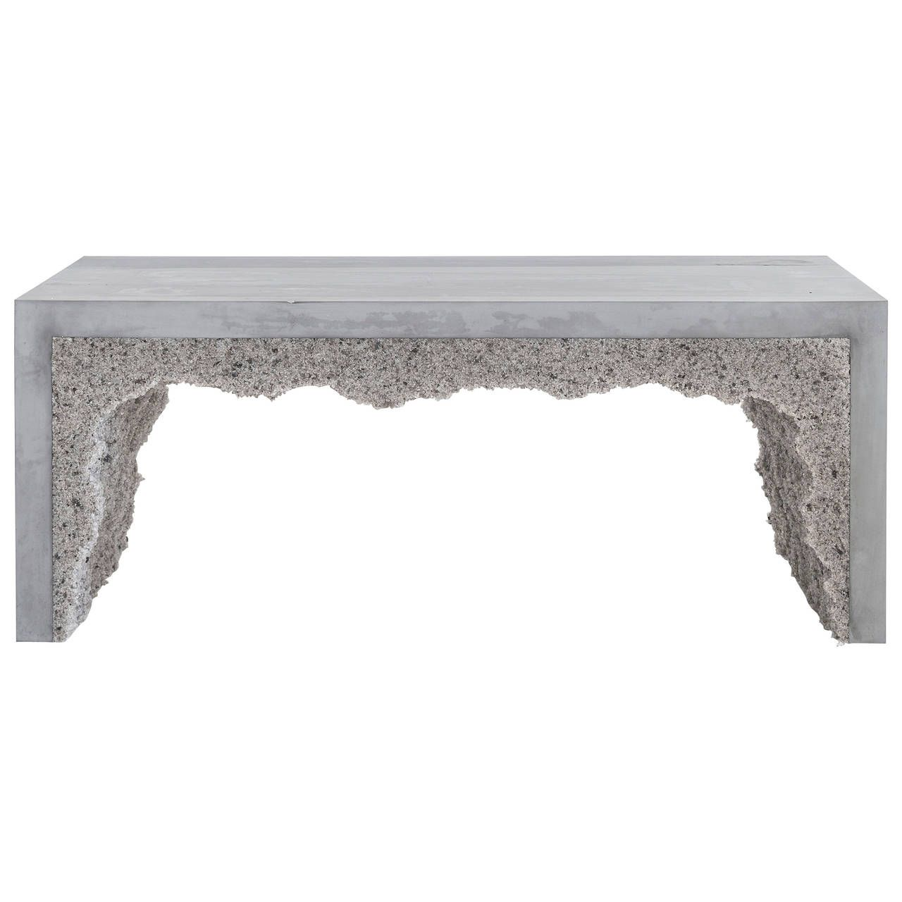 Grey Cement and Grey Rock Salt Bench 1