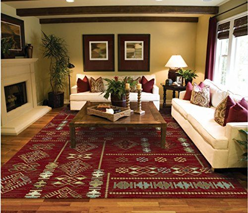 Traditional Rugs Red Copper And Blue 5x7 Rugs For Living Room Turkish Style  Red Area Rug