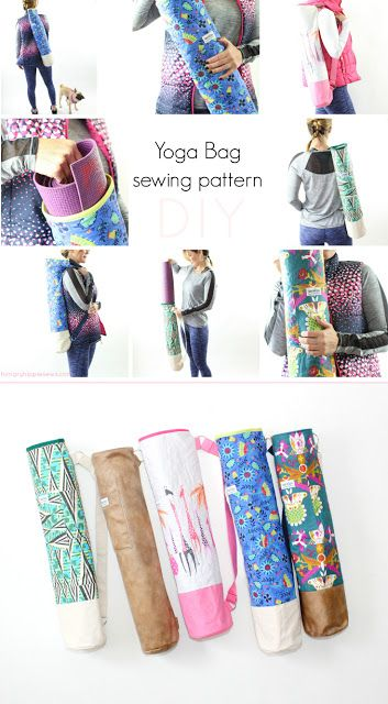 Ananda Yoga Bag Sewing pattern tutorial and PDF | Pinterest | Bag ...