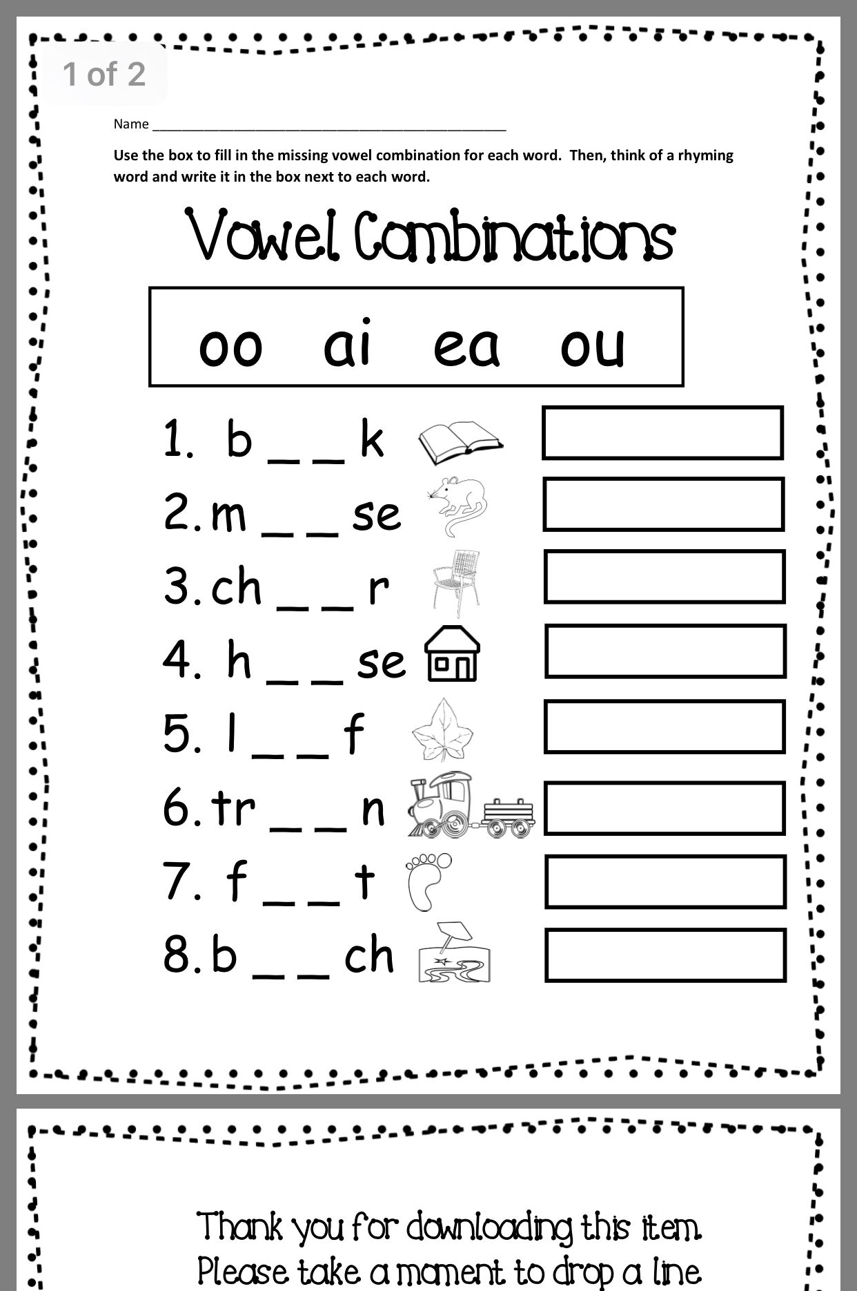 medium resolution of Vowel Sound Worksheet Second Grade   Printable Worksheets and Activities  for Teachers