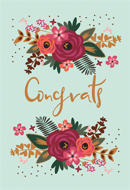Floral Congrats Baby Shower New Baby Card Greetings Island Wedding Congratulations Card Congratulations Card Baby Congratulations Card