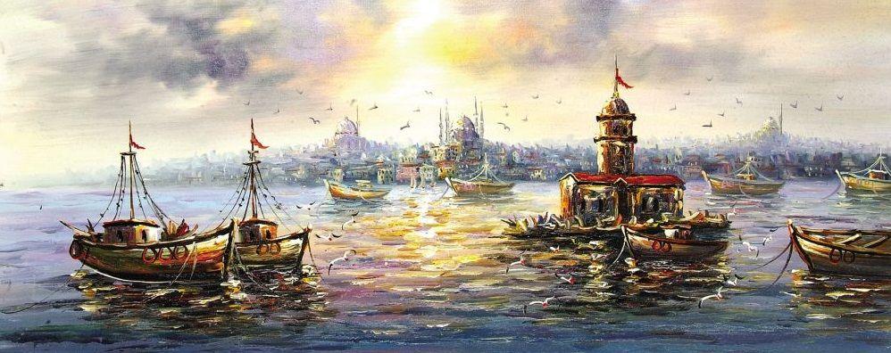 Yagli Boya Istanbul Manzarasi Resimleri Resim Resimler Manzara