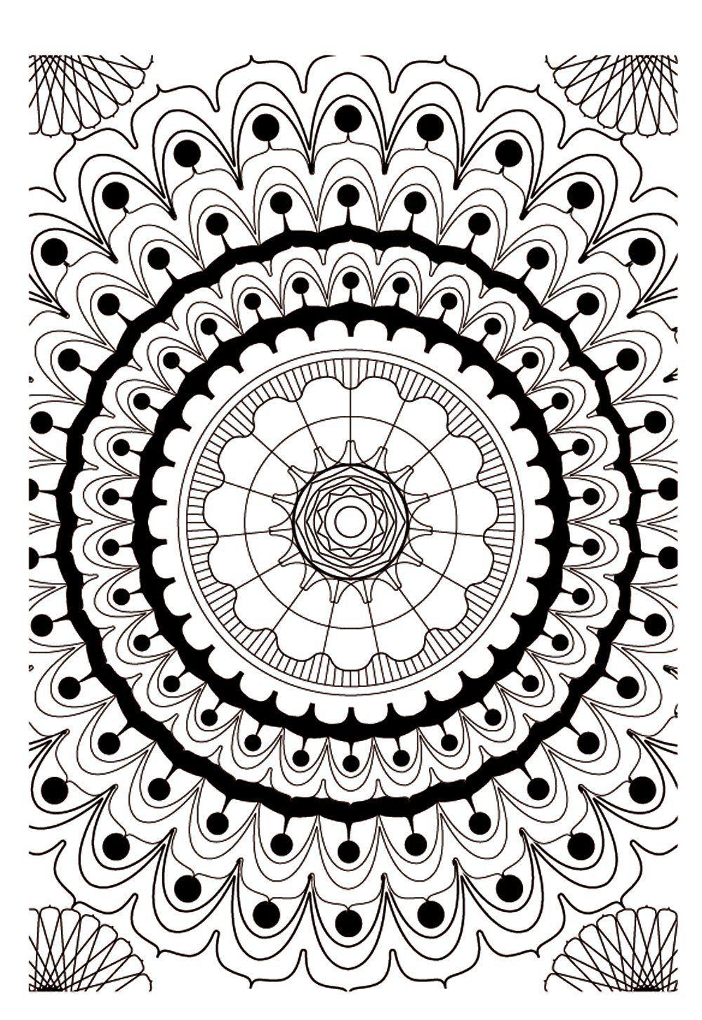 Pour imprimer ce coloriage gratuit «coloriage-mandala-adulte-2 ...