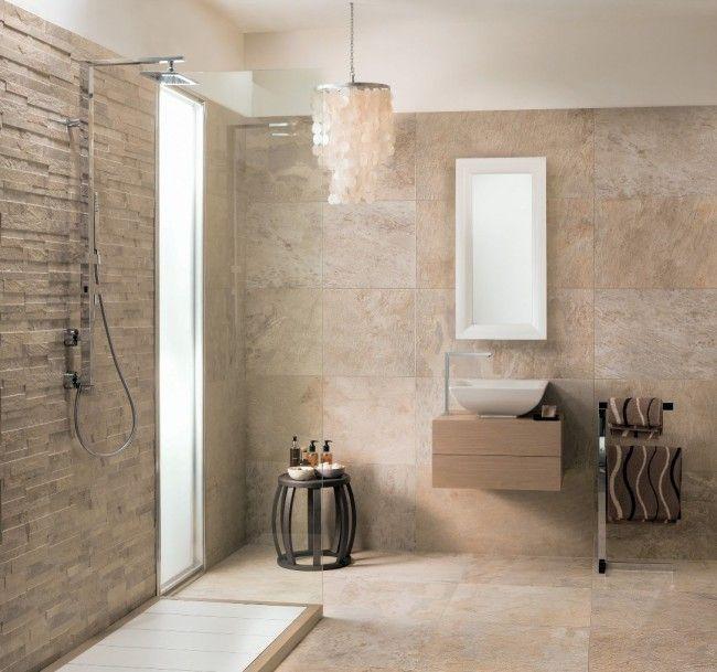 ardesie bad gestaltung mirage ideen beige steinzeugfliesen | bad, Wohnzimmer dekoo