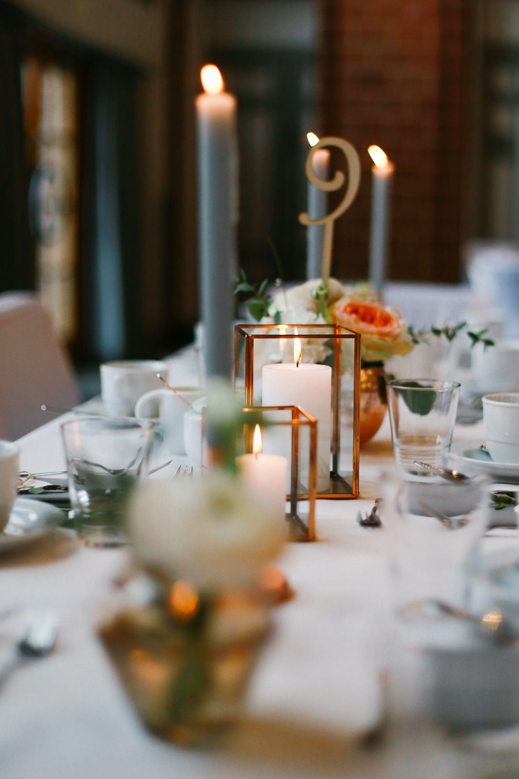 dekoration tischdeko kupfer rustikal hochzeit blumen kerzen eukalyptus copper. Black Bedroom Furniture Sets. Home Design Ideas