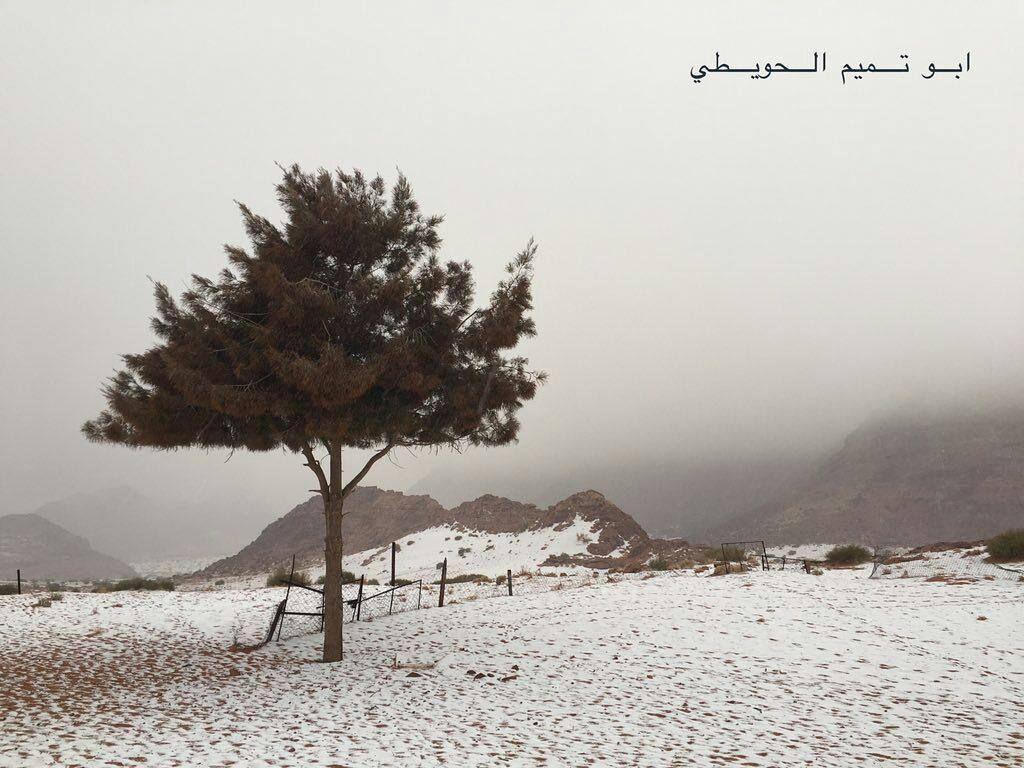 شبكة أجواء السعودية تساقط الثلوج في علقان تبوك من ابو تميم الحويطي رابطة أجواء الخليج G S Chasers Instagram Instagram Posts Photo