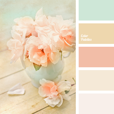 Delicate shades of peach and pink will look beautiful in a ...