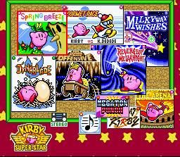 kirby superstar game select google search game ui pinterest