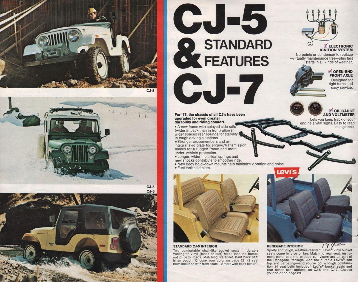Amc 1976 Jeep Sales Brochure Jeep Sale Jeep Jeep Cj7