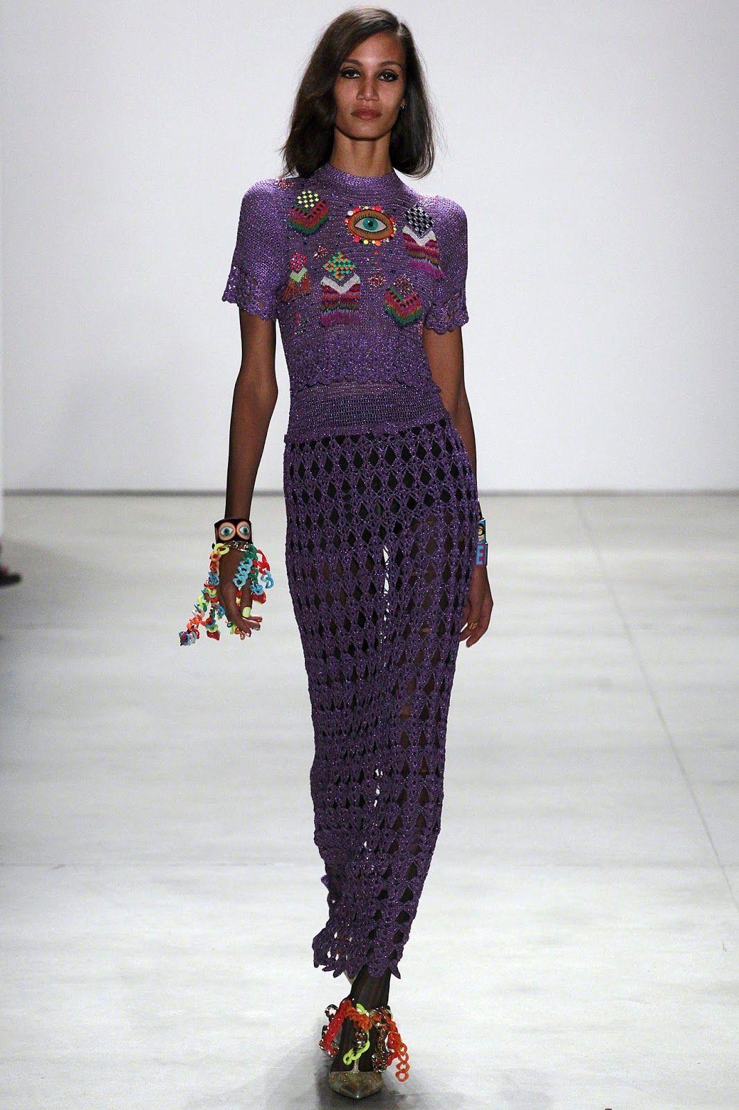 Crochetemoda: Crochet - Saia e Blusa