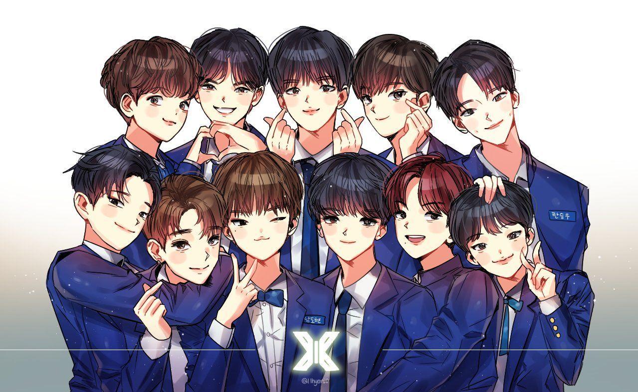 Onextagram In 2019 Fan Art Kpop Fanart Cool Kpop Wallpapers