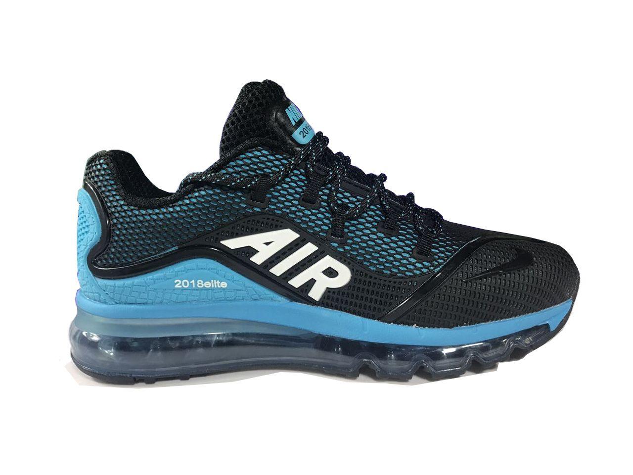 new product a7865 ea4ef Men s UK Nike Air Max 2018 Elite KPU TPU Shoes Black Jade Trainers UK Sale