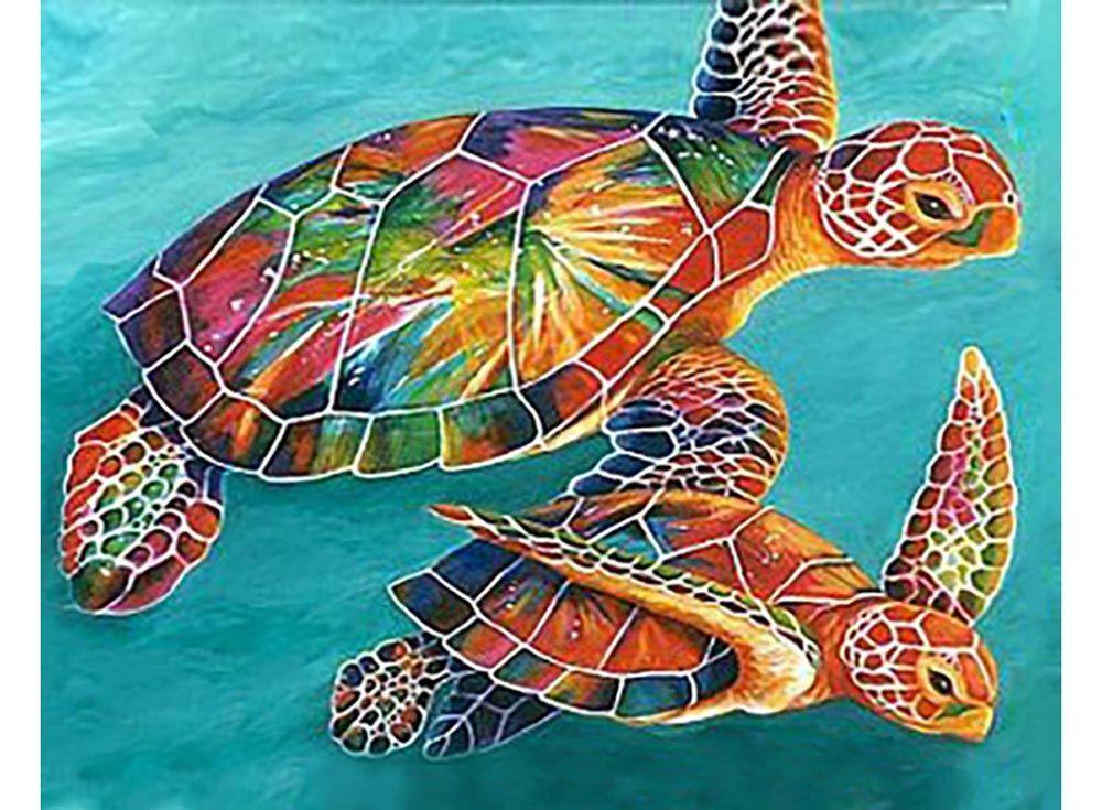 Алмазная вышивка «Морские черепахи» | Африканские картины ...