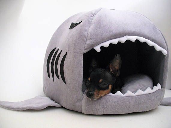 Small Dog Shark Bed Cat Bed Dog Nest Bed Chihuahua Yorkie Dog