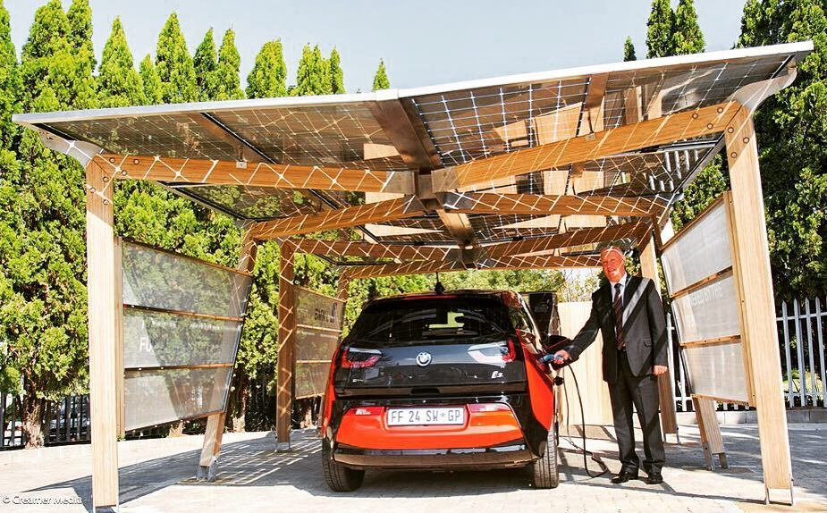 Bmw And Solarwatt Team Up For Solar Carport System Carport Carport Plans Carport Designs